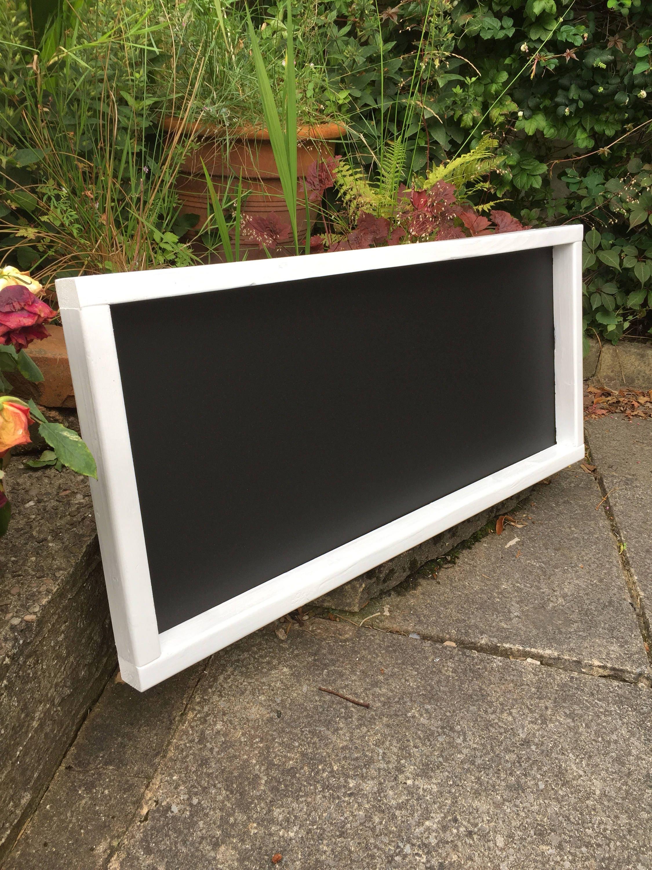 White Rustic Chalkboard Menu Wooden Blackboard