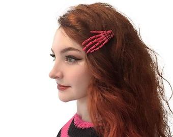 One Pair of Beautitful Pink Mermaid Dragon Hair Slides Hair clips  New steampunk