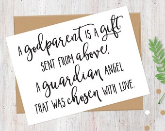 Will You Be My Godmother Card | 100% Recycled Card | A Godparent is a Gift