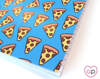 Pizza Notebook | Small Notebook with Pizza Pattern | A5 Notebook | Stocking Stuffer | Eco Friendly | Cute Notebook | French Fries