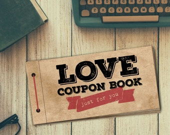 Love Coupon Book for Him | PRINTABLE | DIY Gift | Digital PDF File | Valentine's Day | Birthday | Anniversary | Husband | Boyfriend