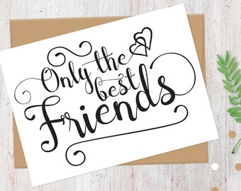 Will You Be My Bridesmaid Card   Only the Best Friends Get Promoted to Bridesmaid   100% Recycled Card