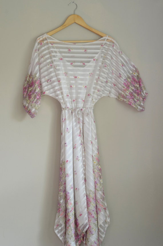 Vintage Sheer Floral Dress - image 1