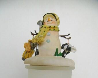 Christmas Snowman Golf Trinket Holder Golf Shoe Golf Bag Golf Tee stick