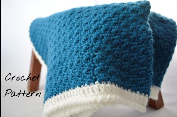 Emory Blanket Crochet Baby Blanket Pattern Simple Crochet Etsy