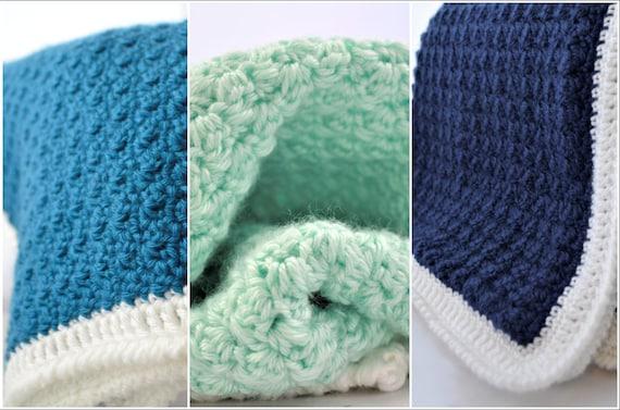 The Beginner Baby Blanket Collection Beginner Crochet Etsy