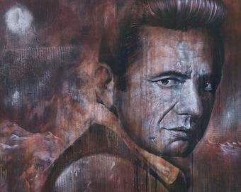 JOHNNY CASH Painting