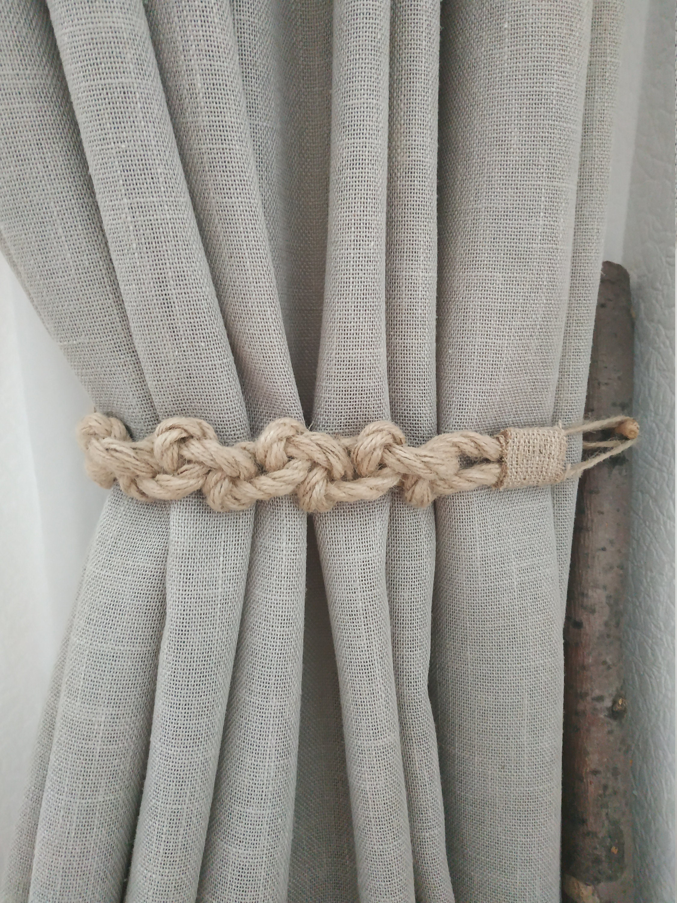 Rustic Jute Curtain Tie Backs Gypsy D 233 Cor Boho Accessories