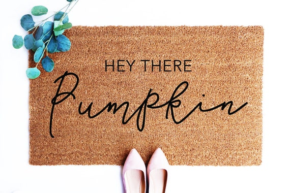 Hello There Pumpkin Doormat