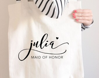 Maid of Honor Tote, Custom Tote, Monogram Tote, Maid of Honor Tote Bag, Beach Tote, Custom Maid of Honor gift, Gift For Maid of honor