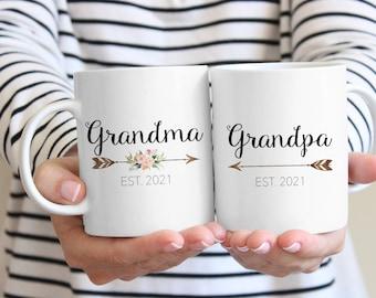 Grandparents Mugs, Grandma Mug, Pregnancy Reveal to Grandparents, Future Grandma, New Grandparents, Gift for Grandparents, Grandpa mug