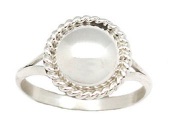 Navajo Button Ring