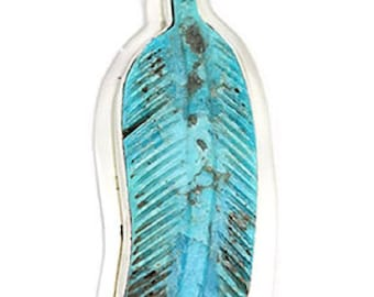 Carved Feather Pendant