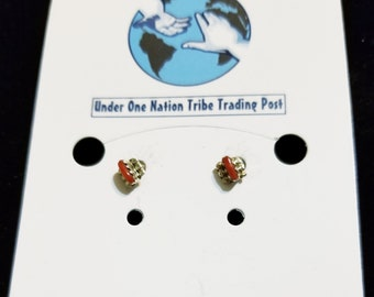 Sterling Silver Coral Earrings (Kids)