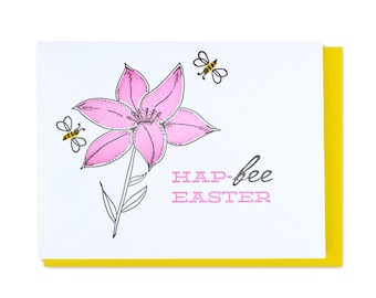 Easter Letterpress Card // Bee & Lily // Bees