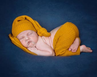 up-cycled boys newborn photo prop set, newborn posing pillow, newborn pants and hat