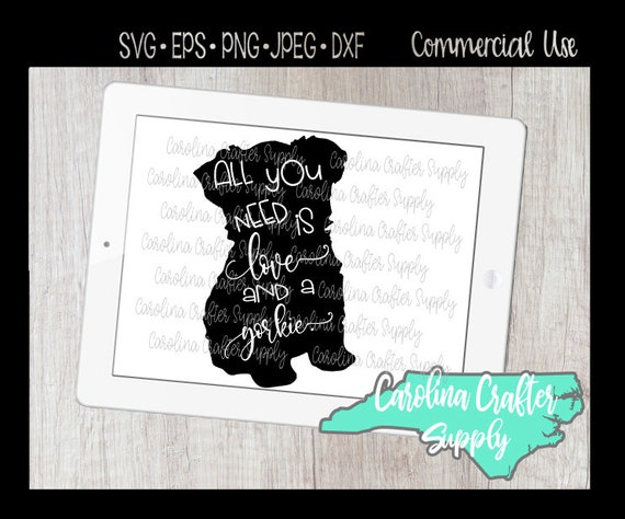 Yorkie Cut File Bundle Svg Jpeg Png Dxf Eps All You Need Etsy
