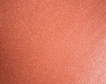 "12x12"" Orange Creme Transparent Glitter Adhesive Vinyl Permanent Outdoor Vinyl Oracal 951, Oracal 651 Equivalent, Transparent Glitter Vinyl"
