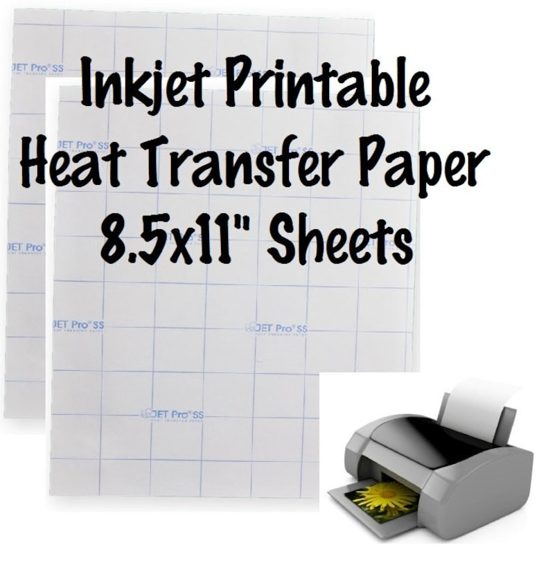 photograph relating to How to Use Printable Heat Transfer Vinyl identified as 1 Sheet Jet-Opaque Inkjet Move Paper Printable Warmth Go Vinyl Printable HTV 8.5x11\