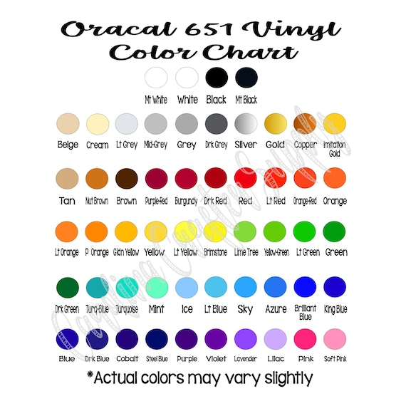 10 Sheets Oracal 651 12x12 Adhesive Vinyl Pick Your Etsy