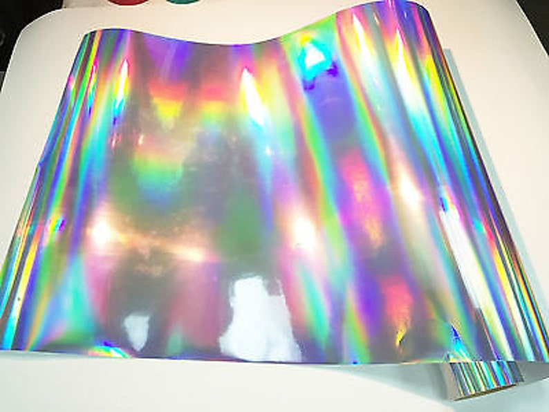 462d553d24 Rainbow Chrome Vinyl Silver Oil Slick Vinyl Rainbow Chrome | Etsy