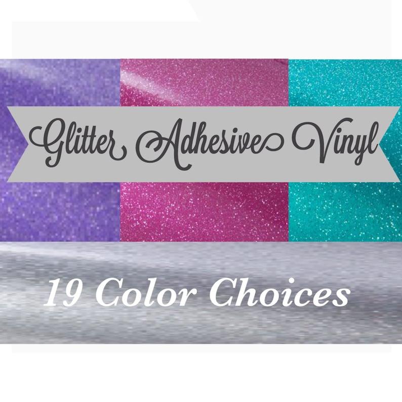 Glitter Vinyl Glitter Adhesive Vinyl Glitter Vinyl Sheets image 1