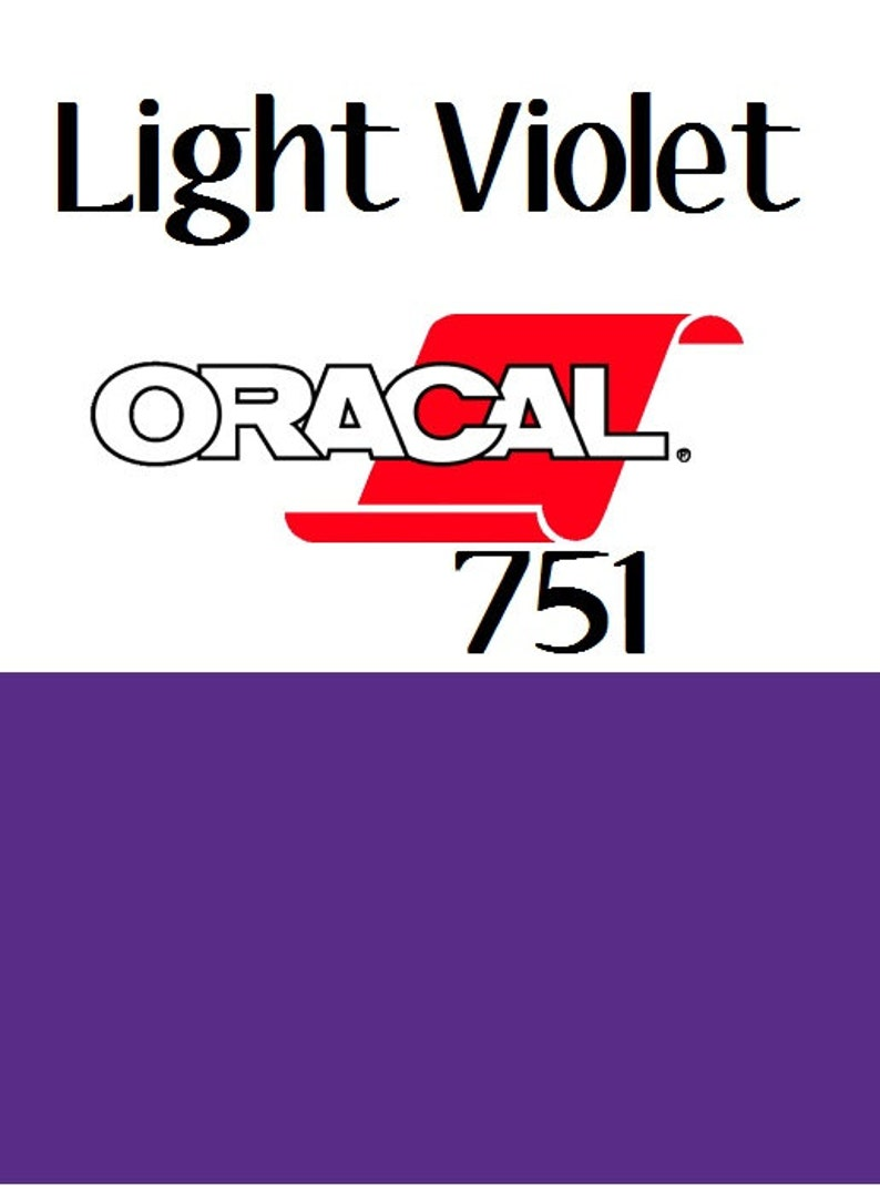 FLASH SALE!! Light Violet Oracal 751 12x12