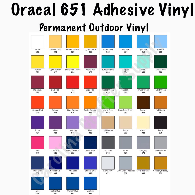 651 Vinyl 12x12 Sheets Adhesive Vinyl Oracal 651 Decal