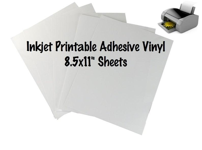 Satisfactory image inside printable vinyl paper