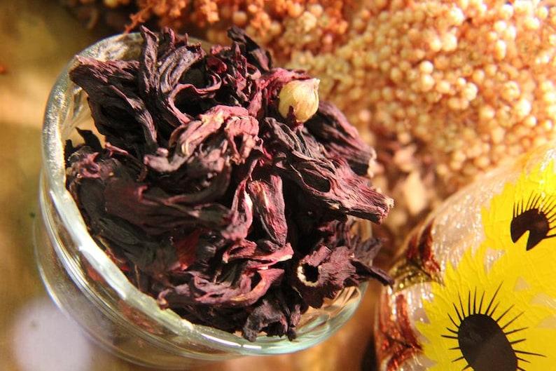 Hibiscus Flowers Roselle Tea