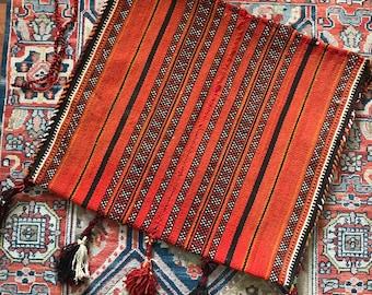 f524edf35b Vintage Kilim Woven Wool Saddlebag • Turkish Camel Saddle Bag • Bohemian  Decor