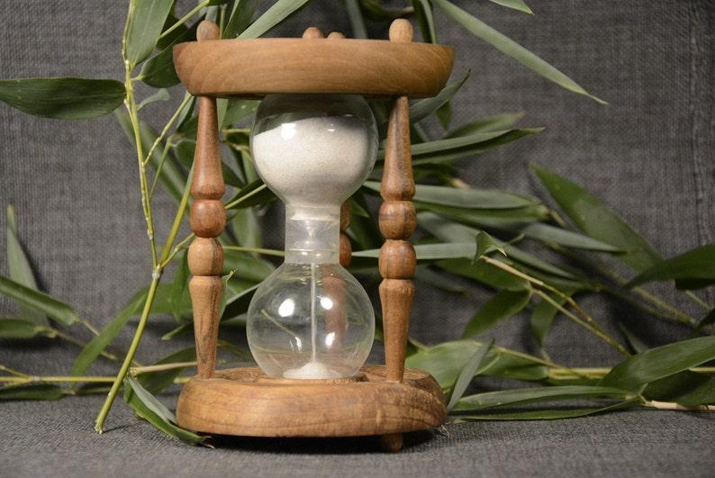 TimerHourglass Sand Timer Natural Wood Handmade Hourglass Vintage Wooden Hourglass Egg Timer 3 Minutes