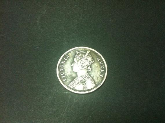 Indien Silber Rupie Jahr 1862 British Colonial Münze Königin Etsy