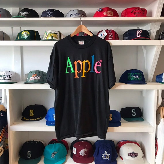 Vintage Apple Black T-shirt Deadstock