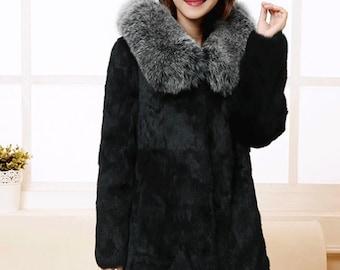 Rabbit Fur Jacket, Real Fur.