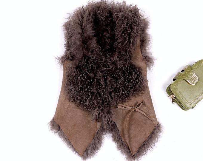 Merino Sheep Waistcoat, Real Wool Vest.
