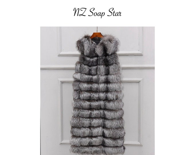 Fox Fur Vest, Long Real Fur Jacket, Real Fur Coat.
