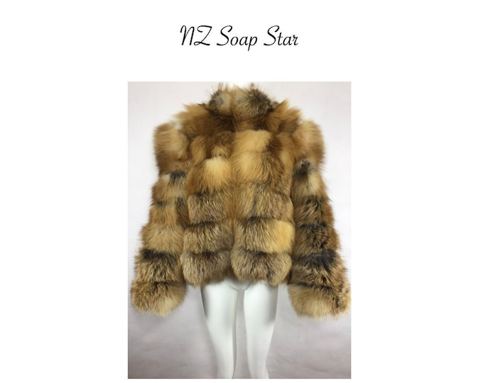 Luxurious Red Fox Fur Jacket, Real Fur Coat, Fur Coat.