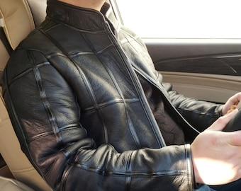 Mens Sheepskin Jacket, Mens Real Fur Coat, Real Leather Jacket.
