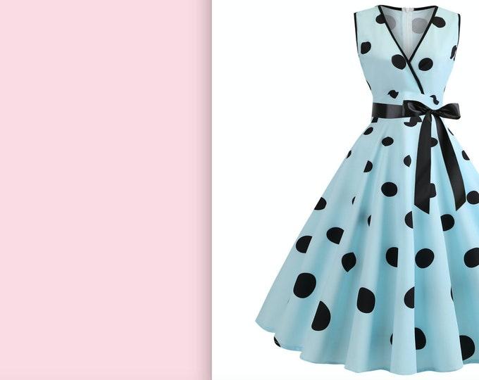 Retro Pin Up Dress, Summer Dress, Rockabilly Vintage Looking Dress.