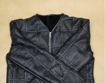 Mens Sheepskin Jacket, Mens Real Fur Coat, Biker Jacket.