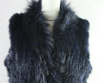 Rabbit Fur Vest, Real Fur.