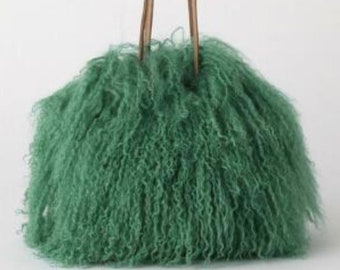 Mongolian Wool Crossbody Bag, Womans Tote