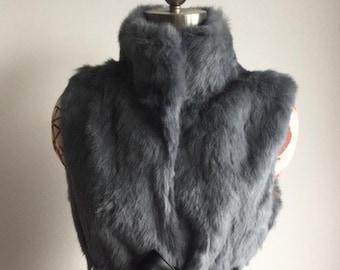 Real Rabbit Fur Vest, Fur Coat, Fur Vest, Fur Jacket, Real Fur Coat, Real Fur Jacket.