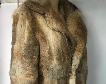 Mens Rabbit Fur Jacket, Real Fur Coat, Fur Coat, Fur Jacket.
