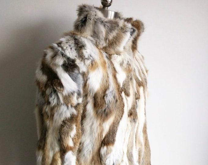 Short Rabbit Fur Coat, Real Fur.