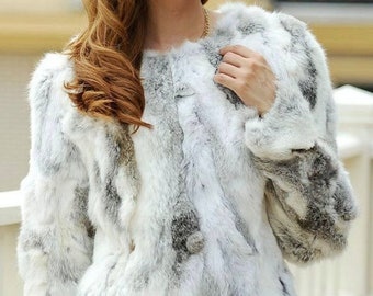 Rabbit Fur Coat, Real Fur.