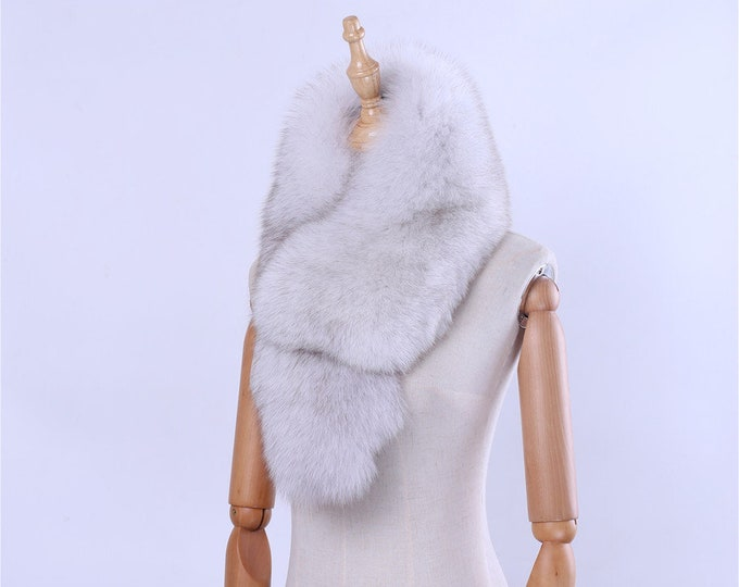 Fox Fur Wrap with Clip