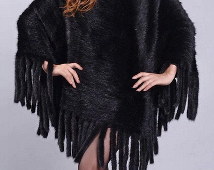 Mink Fur Cape/Poncho, Fur Vest