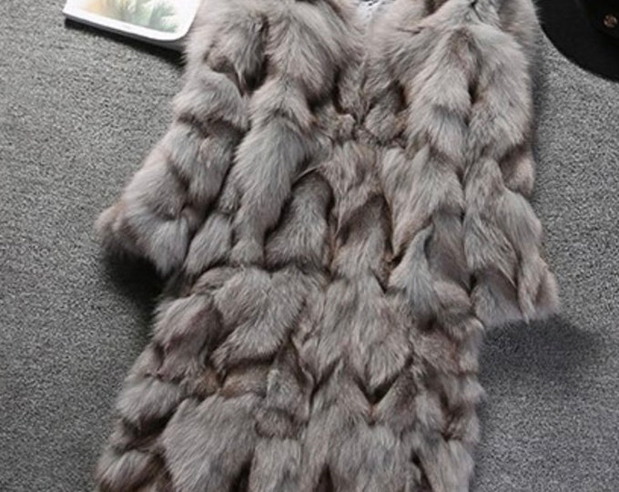 Fox Fur Coat, Real Fox Fur Jacket.